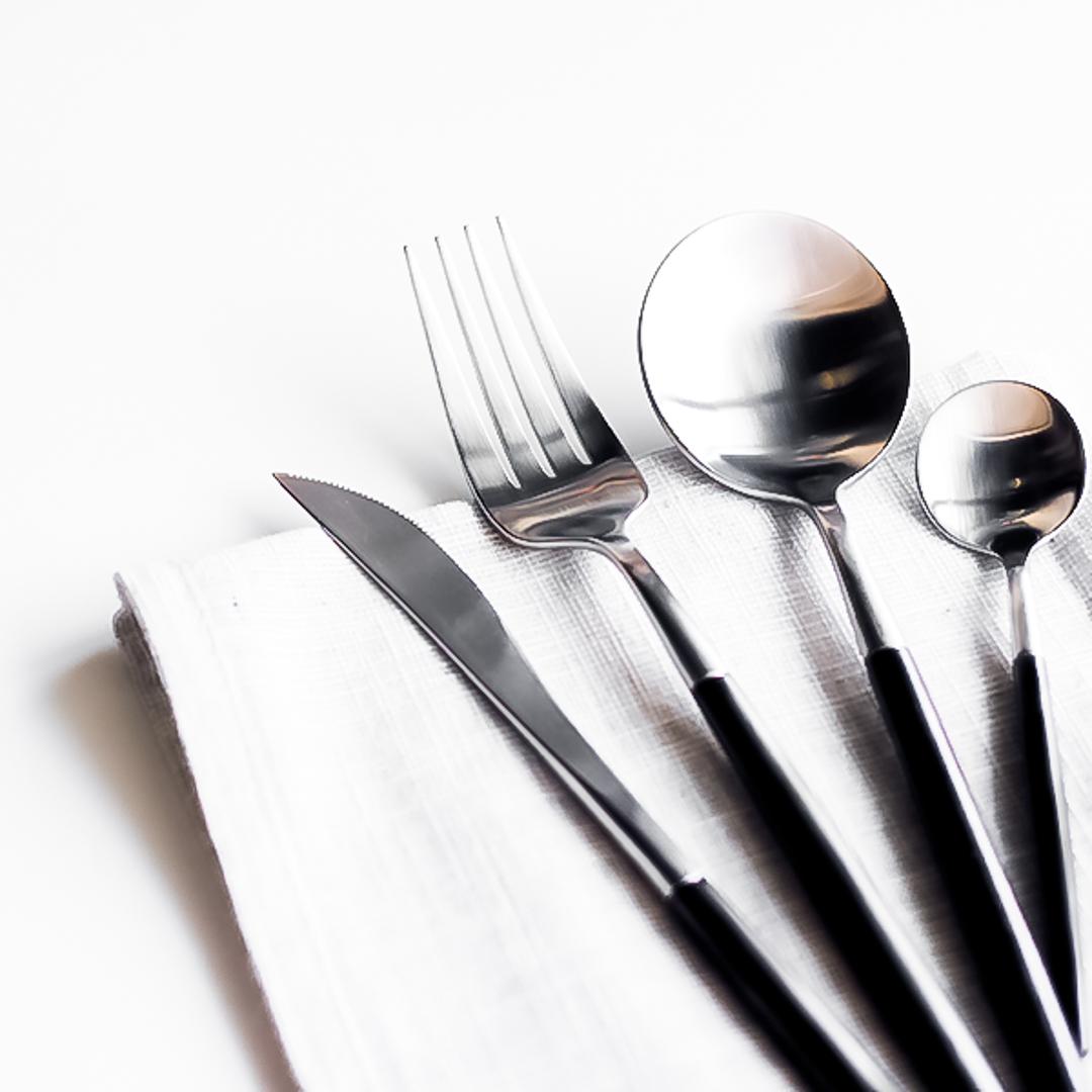 stainless steel cutlery set kiyolo. Black Bedroom Furniture Sets. Home Design Ideas