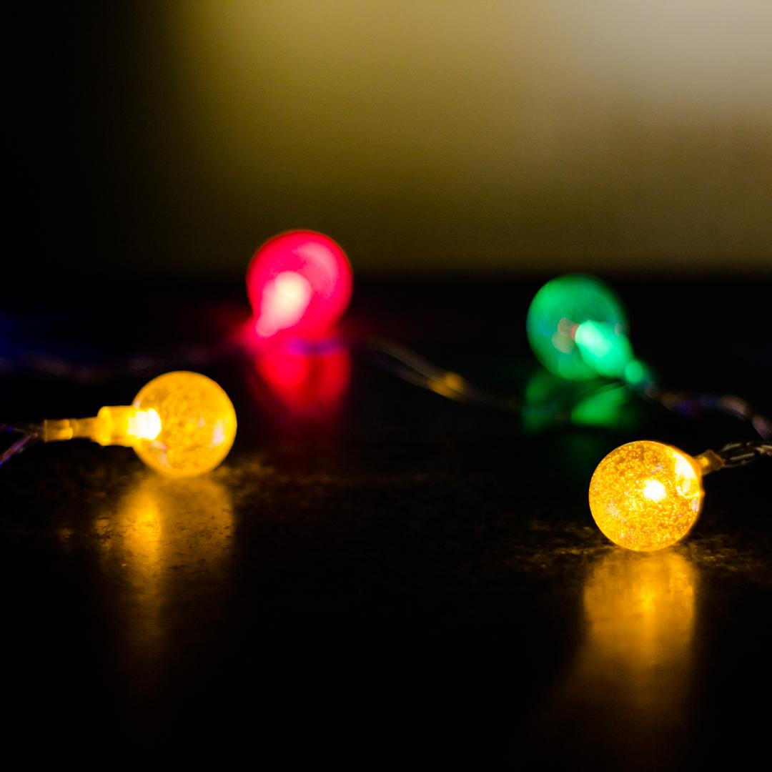 White Crystal Ball Lights Solar String Fairy Outdoor Decor ...   Crystal Light Show String